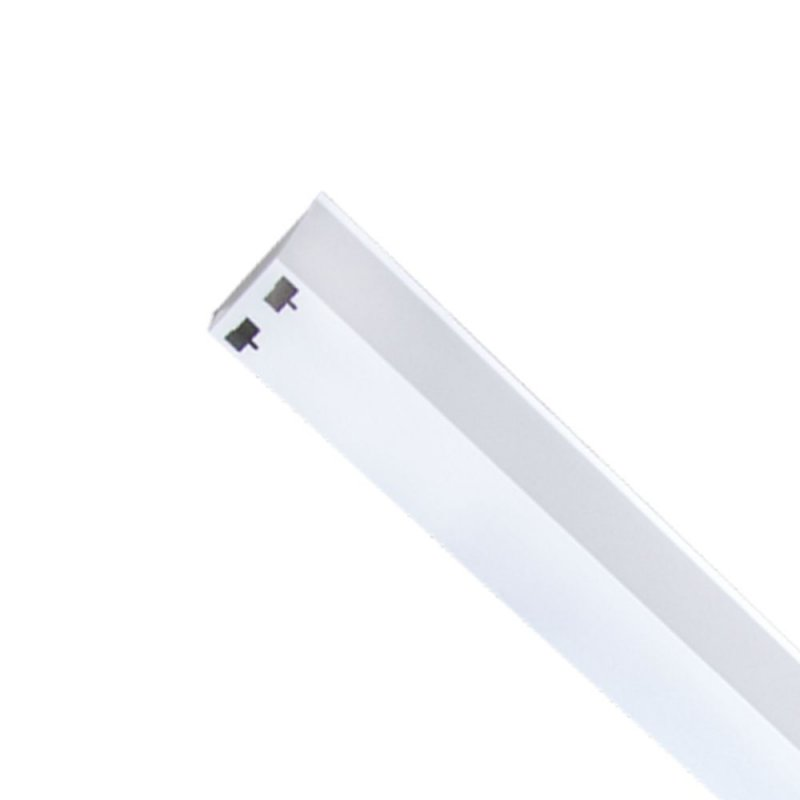 CALHA 2X METAL 1.2MT INDUSTRIAL P/ LAMPADA 40W