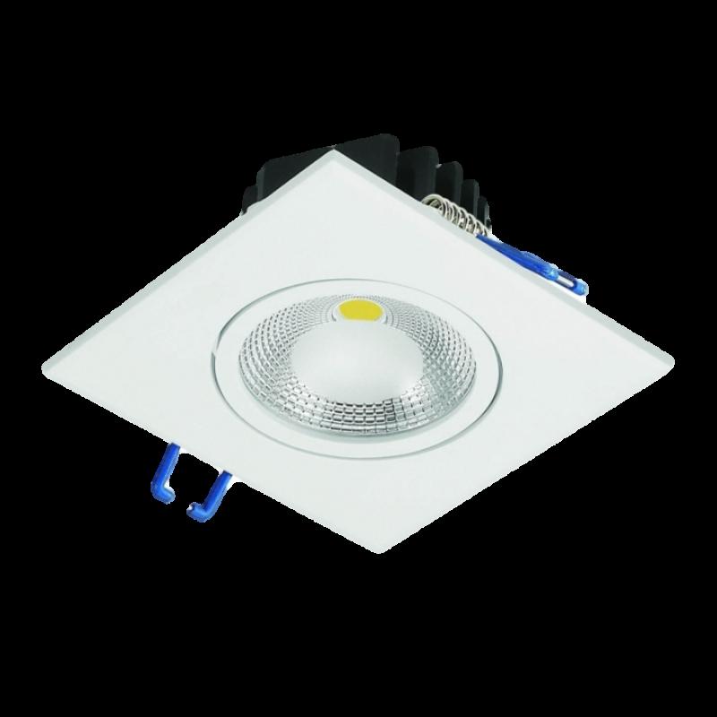 EMBUTIDO TETO CRISTALLUX 5W QUADRADO LED
