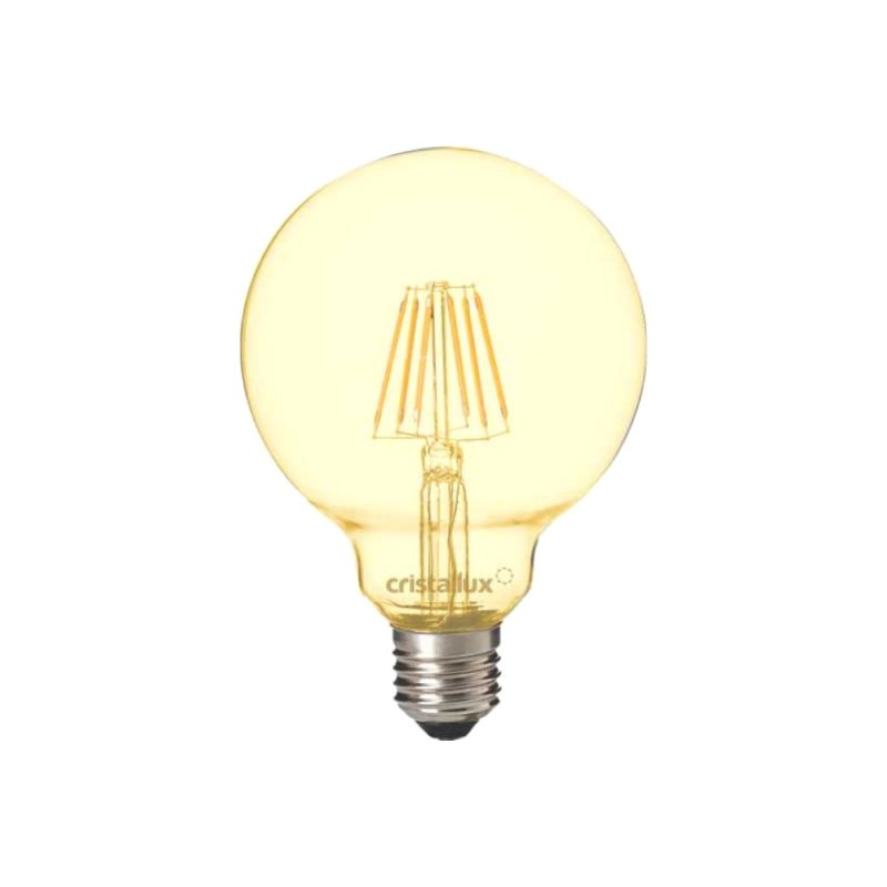 LAMPADA CRISTALLUX  E27 4W GLOBO LED FILAMENTO