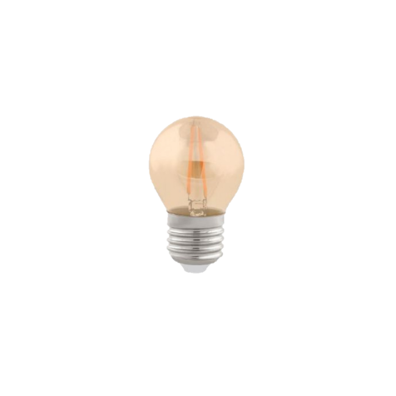 LAMPADA CRISTALLUX E27 2W BOLINHA LED FILAMENTO CHAMPAGNE