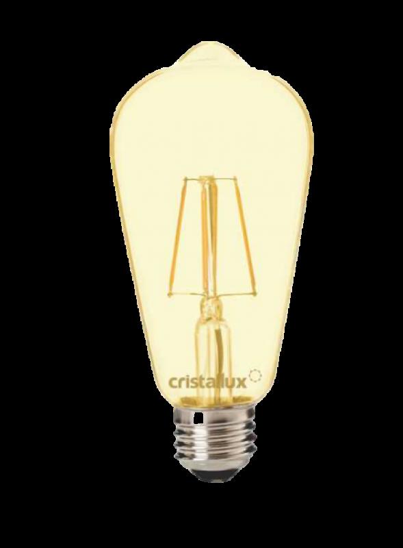 LAMPADA CRISTALLUX E27 4W LED ST64