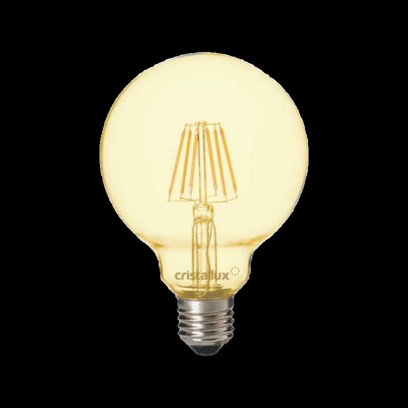 LAMPADA CRISTALLUX E27 4W GLOBO LED FILAMENTO CHAMPAGNE VINTAGE