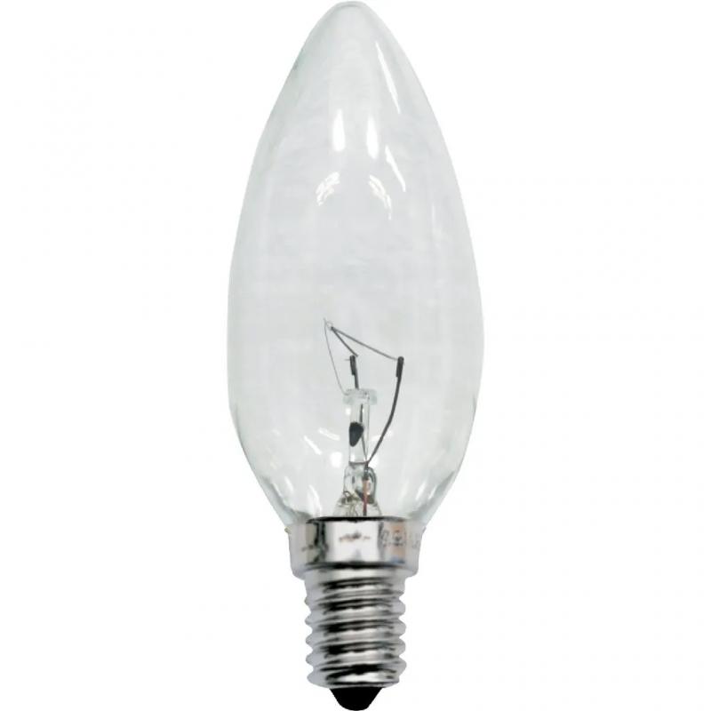 LAMPADA EMPALUX 220V E14 25W VELA INCANDESCENTE CL
