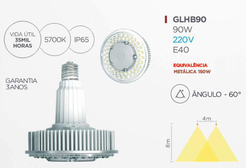 LAMPADA G-LIGHT E40 90W LED