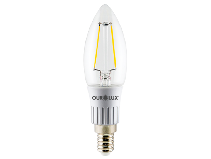 LAMPADA OUROLUX 3W VELA FILAMENTO LED