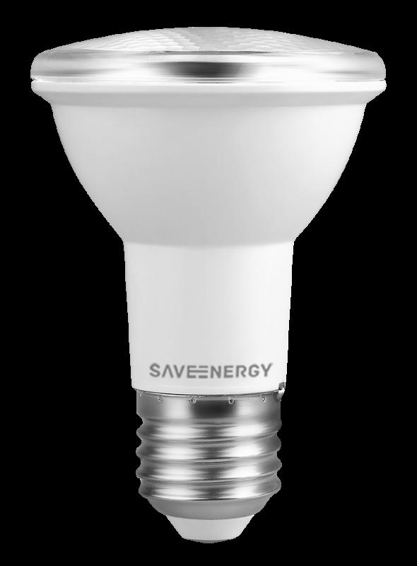 LAMPADA SAVEENERGY 110V-220V E27 7W PAR20 BR 3000K
