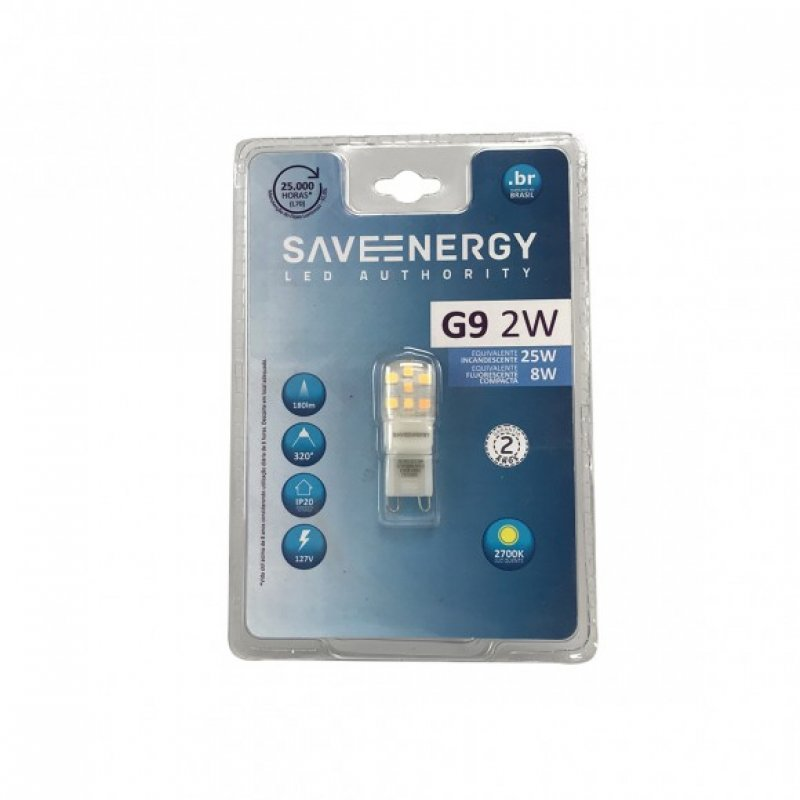 LAMPADA SAVEENERGY 220V G9 2W LED