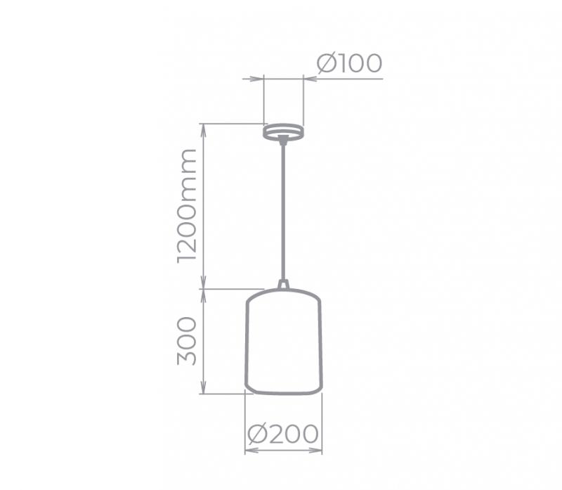 PENDENTE 1X E27 MARROM KRAFT 20 CM SD8430