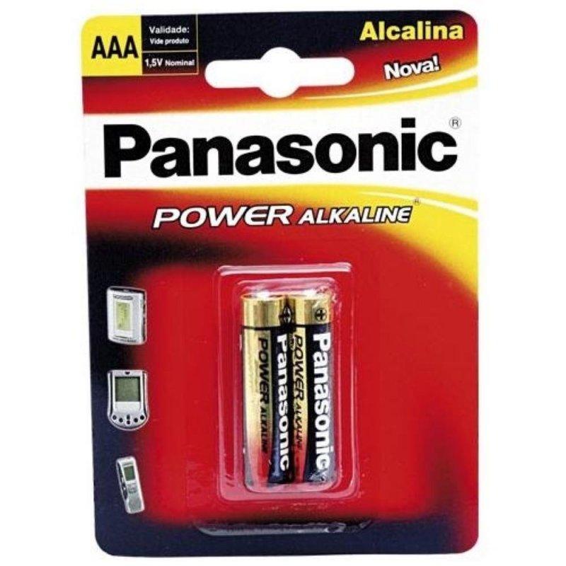 PILHA PANASONIC 1.5V ALCALINA AAA
