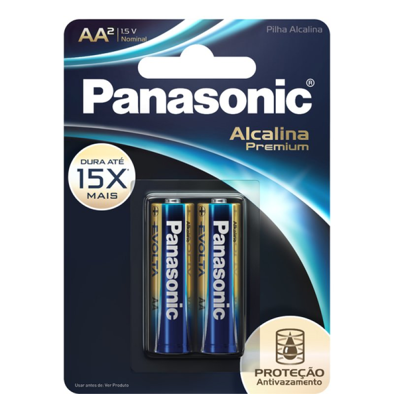 PILHA PANASONIC 1.5V AZ ALCALINA PREMIUM AA