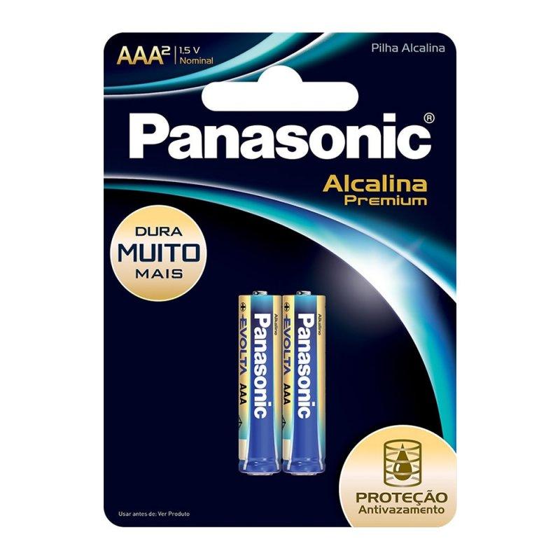 PILHA PANASONIC 1.5V AZ ALCALINA PREMIUM AAA