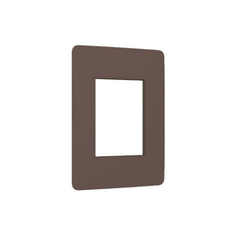 PLACA SCHNEIDER 3 MODULOS PLANET BROWN 4X2
