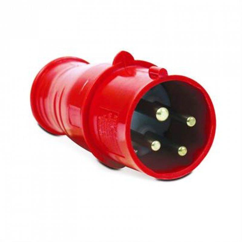PLUG MACHO SIBRATEC IP44 3P+T 6H 380V 32 AMPER INDUSTRIAL
