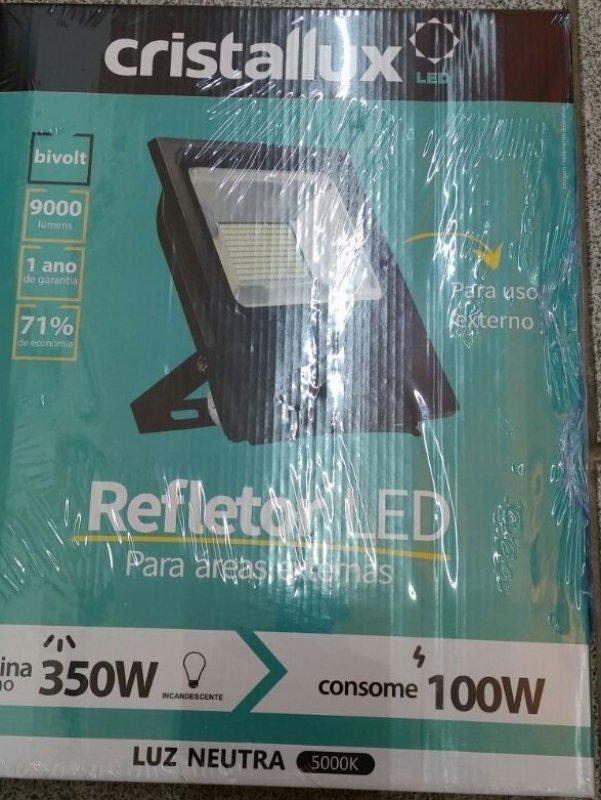 PROJETOR CRISTALLUX 100W LED PT 6400K
