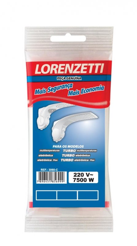 RESISTENCIA LORENZETTI 7500W DUO SHOWER