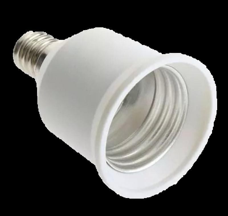 SOQUETE E14 PARA E27 BR PVC ADAPTADOR
