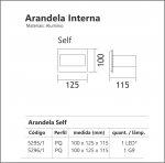 ARANDELA INTERNA USINA 5W LED