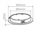 EMBUTIDO TETO STELLATECH 110V-220V 2W LED