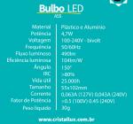 LAMPADA CRISTALLUX E27 4.7W BULBO LED