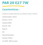 LAMPADA CRISTALLUX E27 7W PAR20 LED