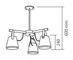 PENDENTE VELLAR BR FOSCO 3X E27 (D) 55 (A) 60 CM REF.: 695/3 SPOTLINE